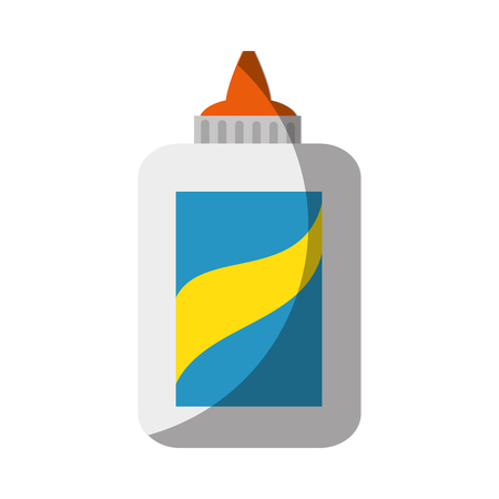 glue bottle icon over white background vector illustration
