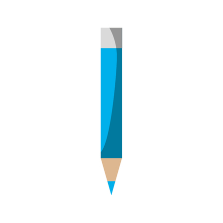 pencil utensil icon over white background vector illustration Stok Fotoğraf - 79412844