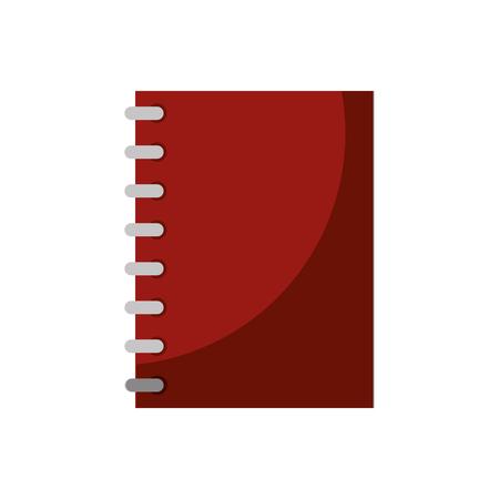 notebook icon over white background. colorful design vector illustration Illustration