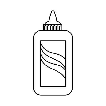 glue bottle icon over white background vector illustration
