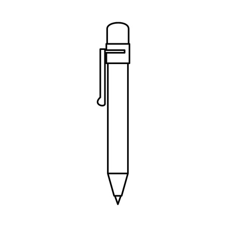 pen utensil icon over white background vector illustration Stok Fotoğraf - 79412914