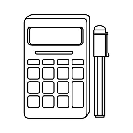 calculator device icon over white background vector illustration