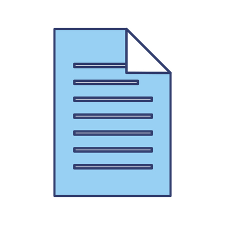 Blue sheet of paper vector graphic design Illustration