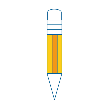 pencil utensil icon over white background vector illustration Stok Fotoğraf - 79416151
