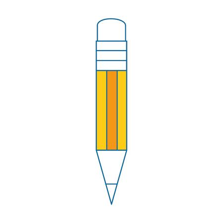 pencil utensil icon over white background vector illustration Illustration