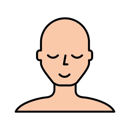 bald man face cartoon vector graphic design