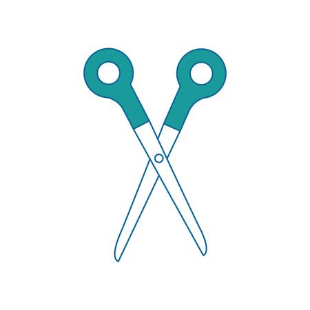 schaar tool icon over witte achtergrond vector illustratie