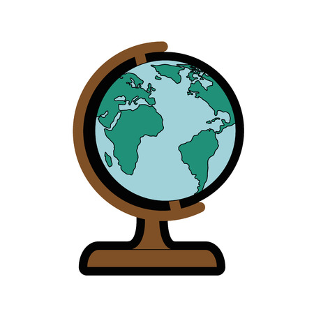 geography tool icon over white background vector illustration
