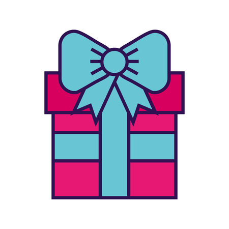 cute fuchsia gift cartoon vector graphic design