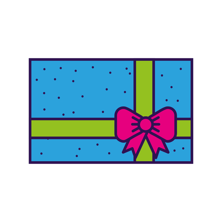cute colorfull gift cartoon vector graphic design Иллюстрация