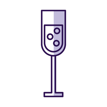 shadow purple champagne cup cartoon vector graphic design Imagens - 79413106