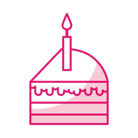 shadow cute cake slice cartoon vector graphic design Illustration
