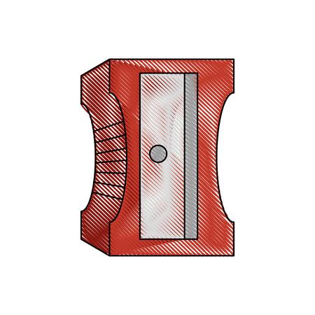 sharpener icon over white background vector illustration Иллюстрация