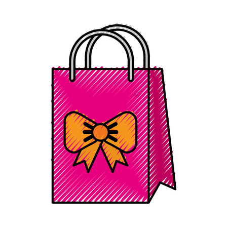 scribble cute gift bag cartoon vector graphic design