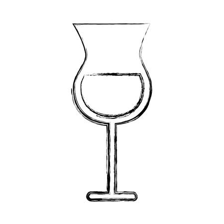 sketch draw alcohol cup cartoon vector graphic design