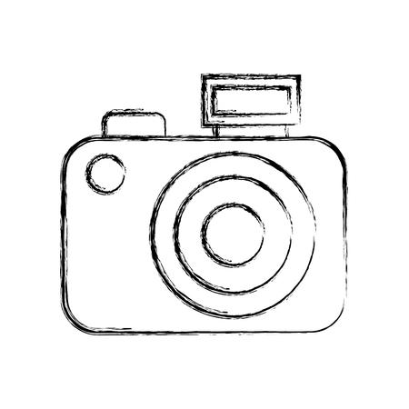sketch draw vintage camera vector graphic sdesign