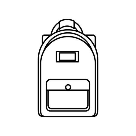 Vector de illustratie grafisch ontwerp van de rugzakschoolzak Stock Illustratie