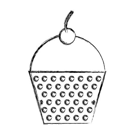 かわいいスケッチを描くカップケーキ漫画ベクトル グラフィック デザイン