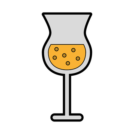 Alcohol beker cartoon vector grafisch ontwerp illustratie