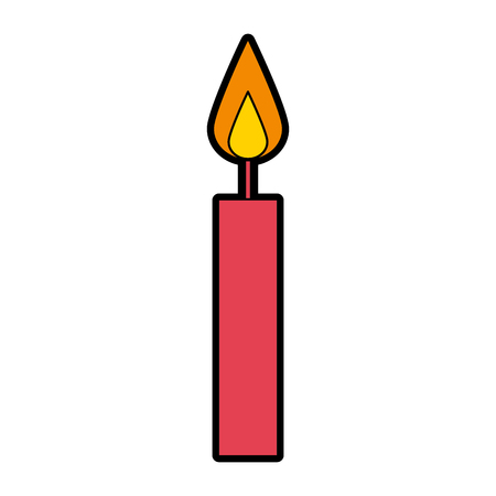 cute red birthday candle cartoon illustration vector Illusztráció