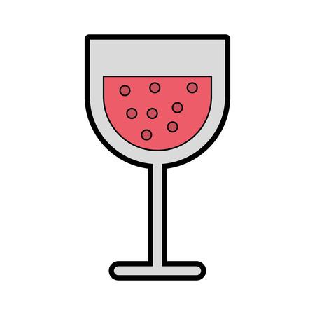 cartoon glass wine vector graphic design icon
