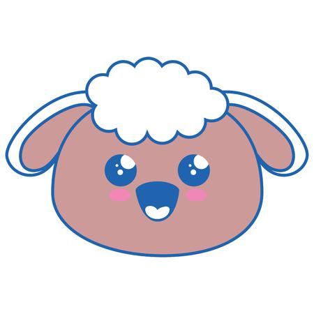 羊かわいい漫画のアイコン ベクトル イラスト グラフィック デザイン  イラスト・ベクター素材