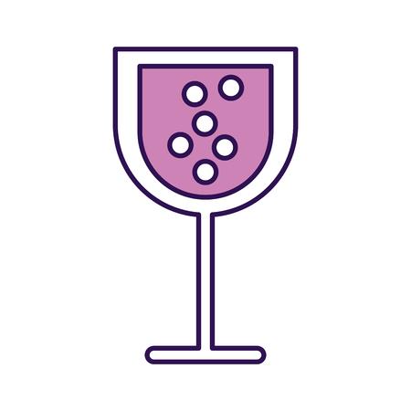 Diseño gráfico de vector de vidrio de dibujos animados púrpura vino Foto de archivo - 79413337