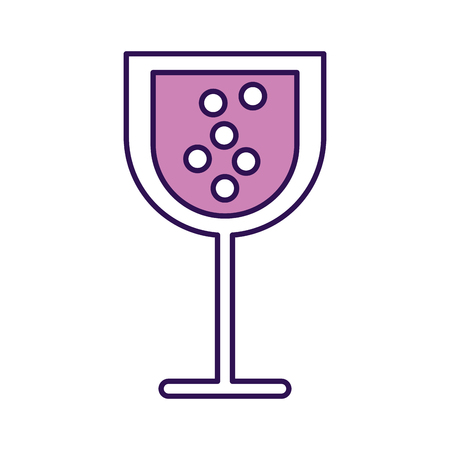 purple cartoon glass wine vector graphic design Illustration