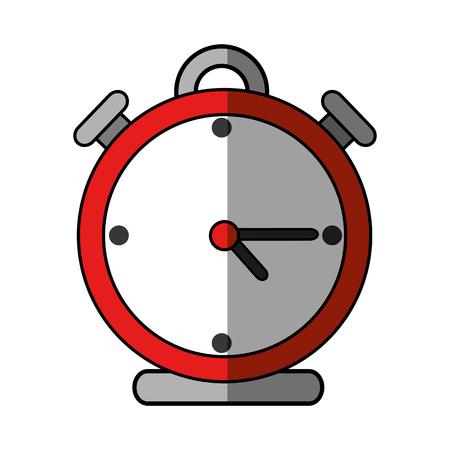 Clock alarm isolated icon vector illustration graphic design Иллюстрация