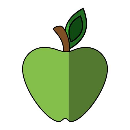 Green apple fruit icon vector illustration graphic design