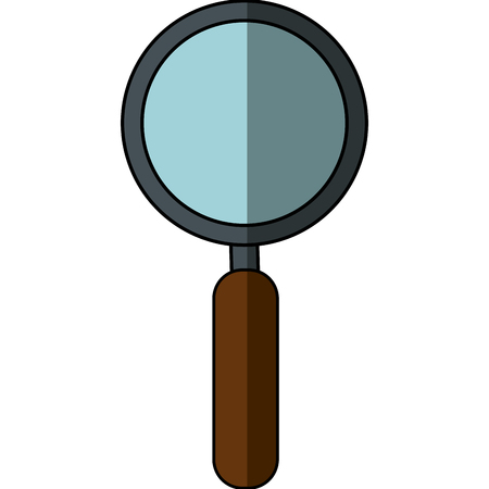 Magnifying glass tool icon vector illustration graphic design Illustration