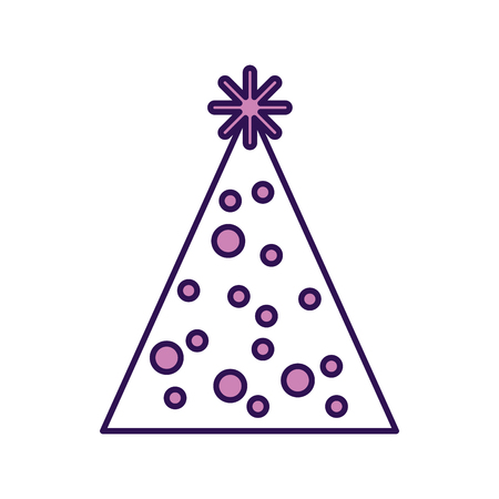 cute purple party hat cartoon vector graphic design Illustration