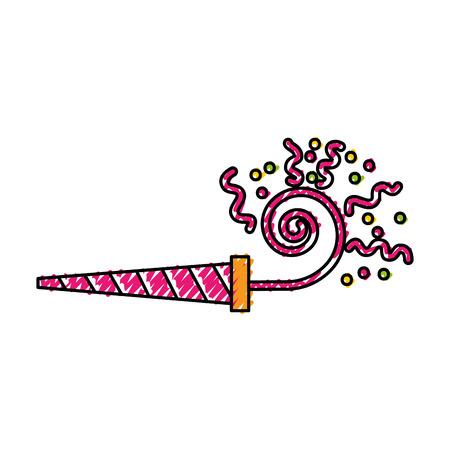 Het leuke vector grafische ontwerp van het gekrabbel roze kronkelige schot