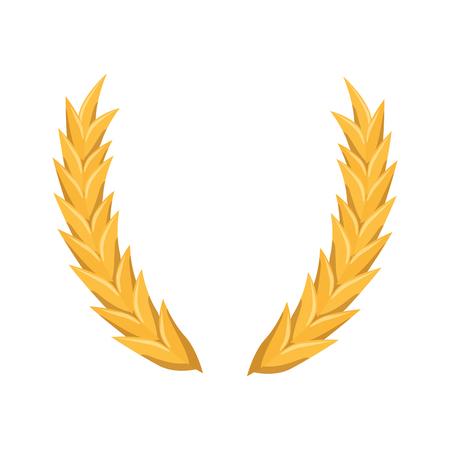 白い背景上の小麦耳アイコン。ベクトル図