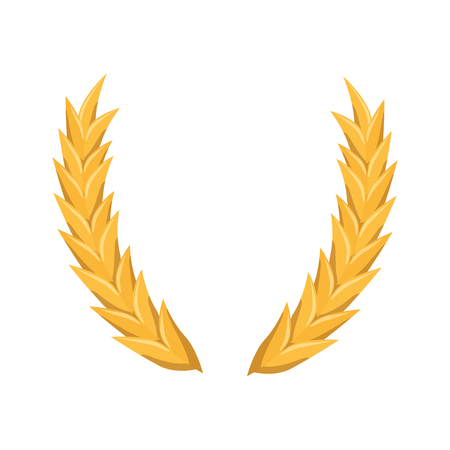 wheat ears icon over white background. vector illustration Illustration