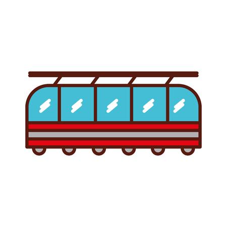 Cute red train cartoon vector graphic design Illustration