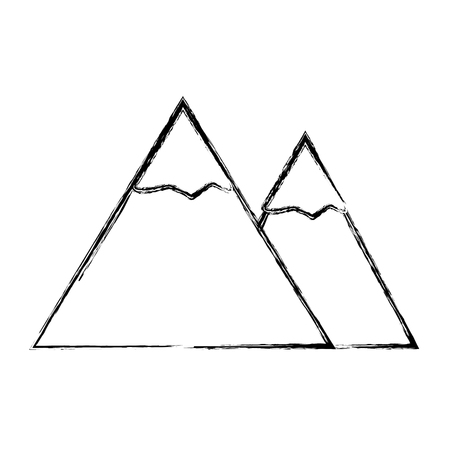 sketch draw mountain cartoon vector graphic design Illustration