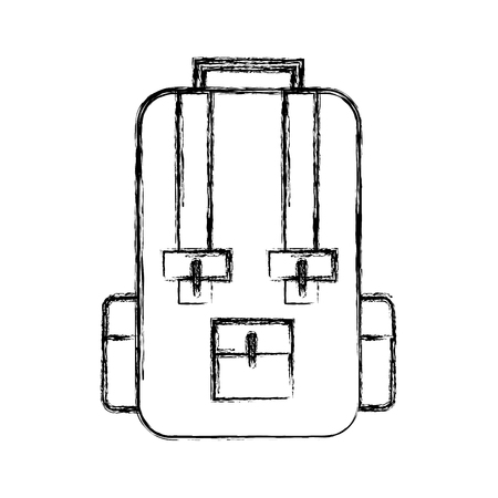sketch draw travel backpack cartoon vector graphic design Illustration