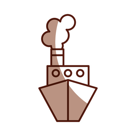 shadow brown ship cartoon vector graphic design