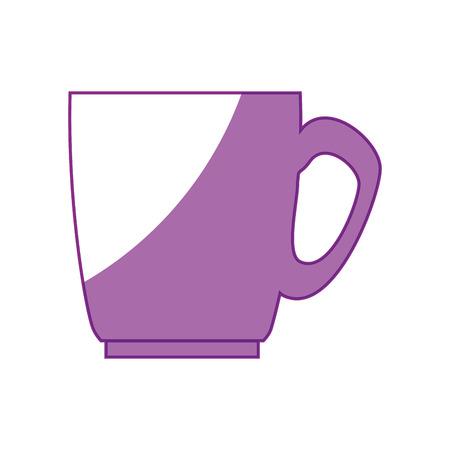 Koffiemok pictogram op witte achtergrond. vectorillustratie