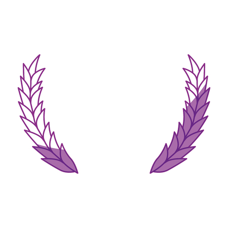Wheat ears icon over white background. Vector illustration Stok Fotoğraf - 79445331