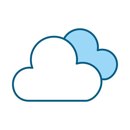 cute blue clouds cartoon vector graphic design