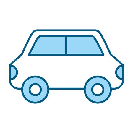 cute blue car cartoon vector graphic design Stock Vector - 79414230