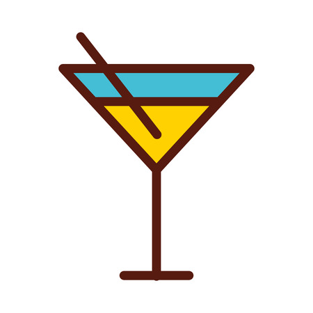 cute yellow cocktail cartoon vector graphic design