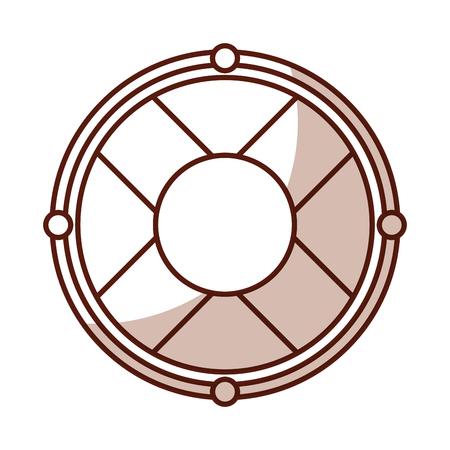 Niedlichen Schatten Rettungsring Symbol Cartoon Vektor Grafik-Design Standard-Bild - 79413894
