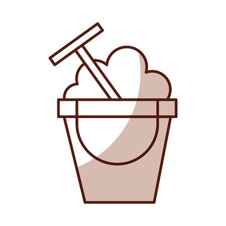 Cute shadow sand jar cartoon vector graphic design Illustration