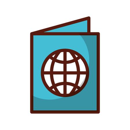 shadow blue passport cartoon vector graphic design Illustration
