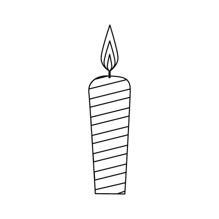 candle icon over white background. vector illustration Ilustrace