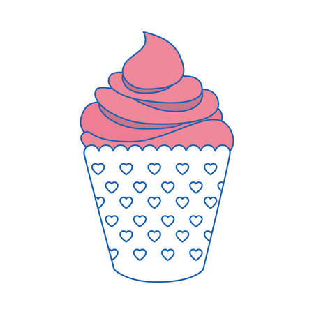 cupcake icon over white background. vector illustration Illusztráció