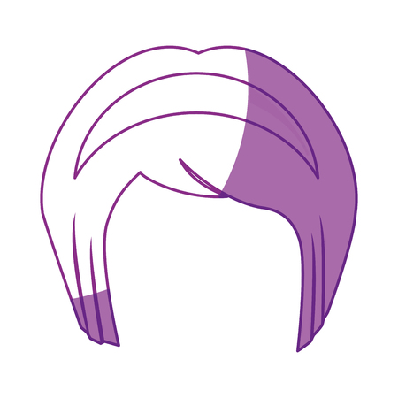 japanese girl hairstyle icon over white background. vector illustration Illustration
